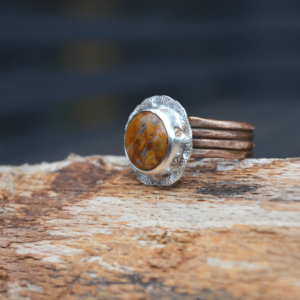 Ring handgemaakt met Crazy Lace Agaat