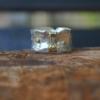 Zilveren ring met gouden belijning