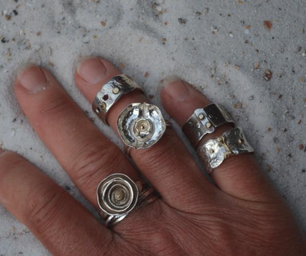 Handgemaakte zilveren ringen