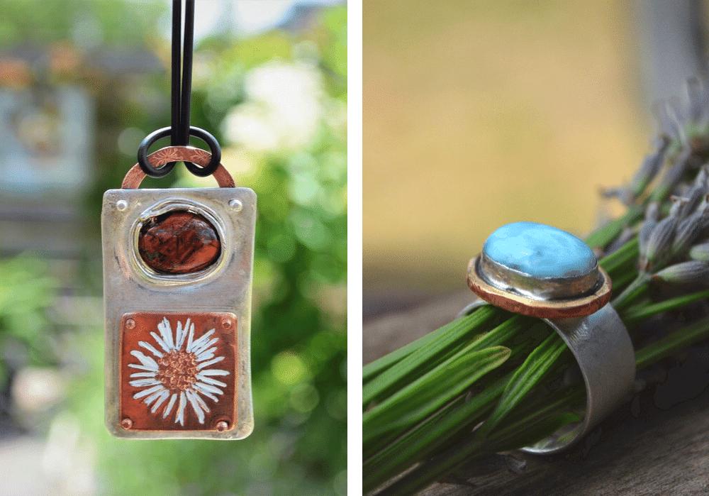 Handgemaakte sieraden met edelsteen