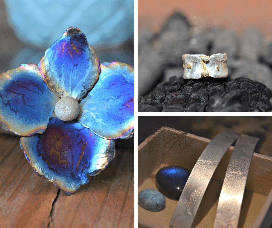 Handgemaakte sieraden van titanium en zilver