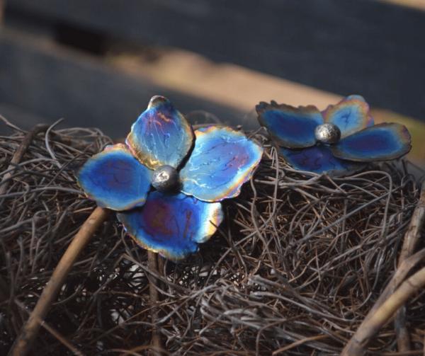 Prachtige hortensia van titanium