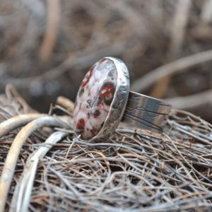 Stoere zilveren ring met Jaspis