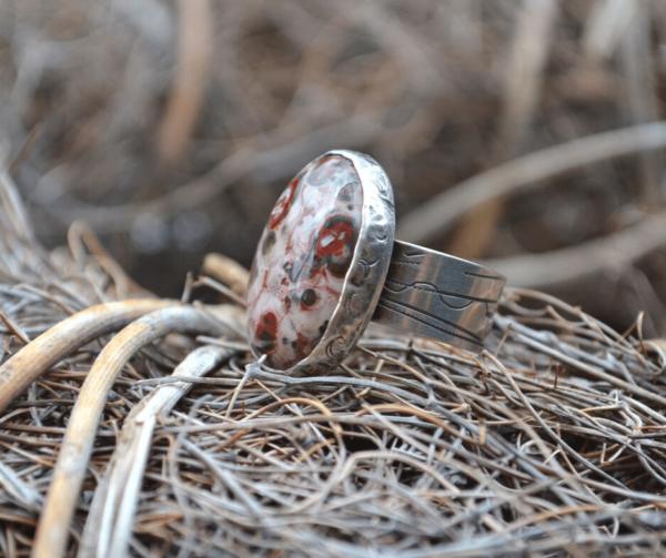 Handgemaakte zilveren ring