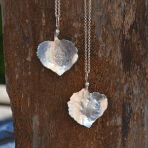 Zilveren hanger Hortensia bloemblaadje
