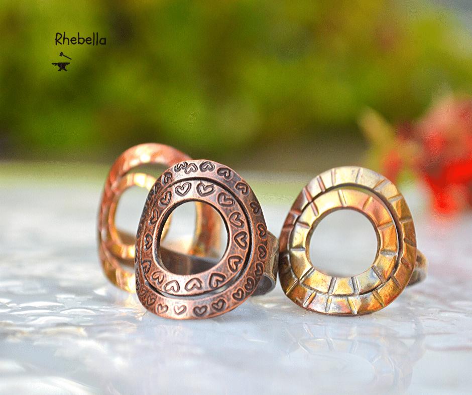 handgemaakte ringen van koper
