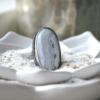 Zilveren ring handgemaakt met witte agaat