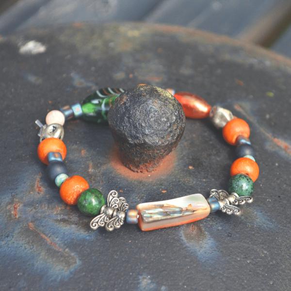Armband met abalone schelp