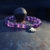 Armband met Amethist en zilveren bedeltje