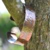 Handgemaakte armband van gehamerd koper