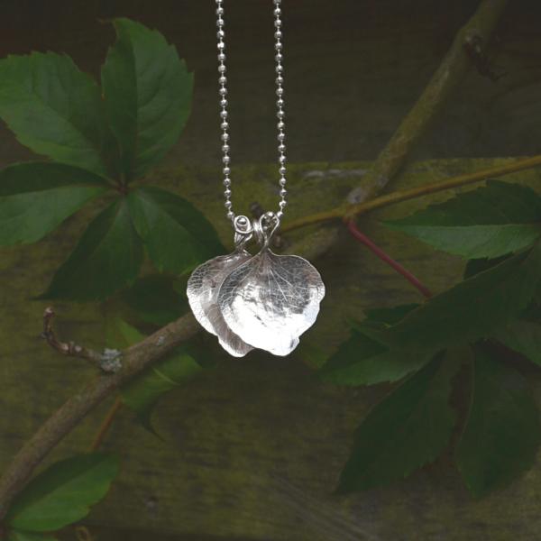 Hanger hortensia van zilver handgemaakt