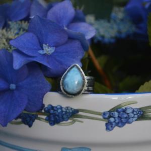 Zilveren ring met Larimar
