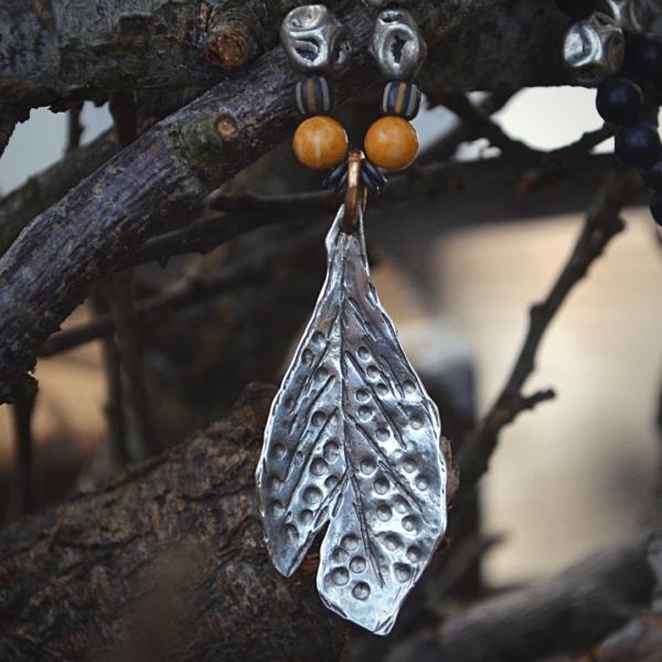 halssieraad zilveren blad