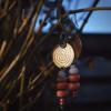 Oorbellen circle handgemaakt met bamboekoraal