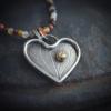 Handgemaakte hanger van zilver --let your heart shine--
