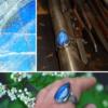 Handgemaakte ring van zilver met labradoriet