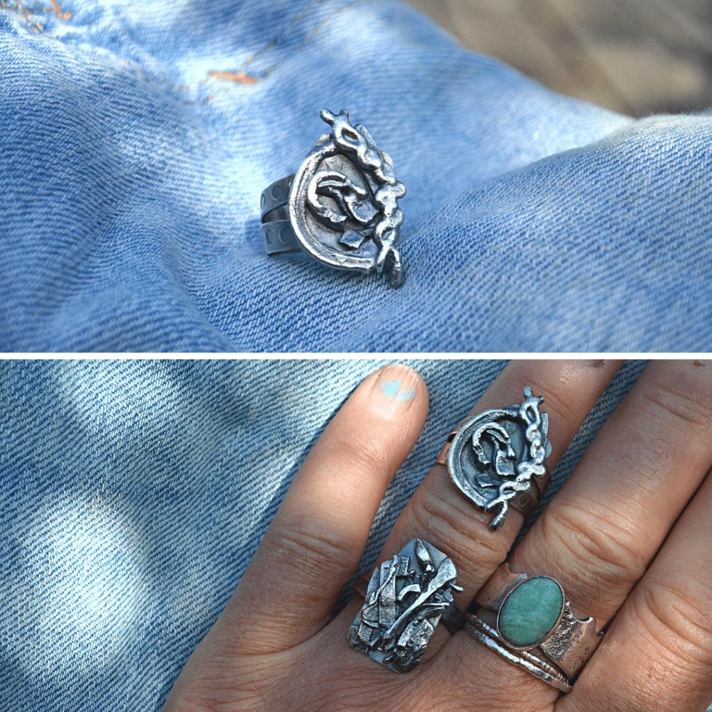 Ring Revolution handgemaakt zilver