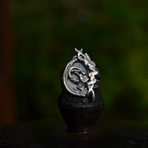 "Zilveren ring ""Revolution"""