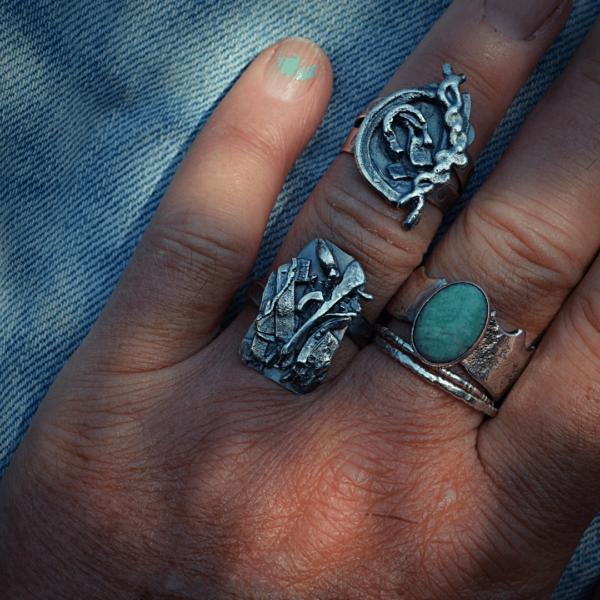 Ring Revolution zilver handgemaakt